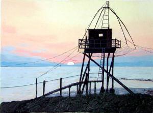 Coucher de soleil vu des pêcheries
