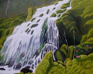 Une cascade sur une ile dans CREATIONS 2011 Cascade-300x239