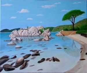 La plage de Palombaggia- Corse dans CREATIONS 2011 Plage-de-Palombaggia-Corse-300x251