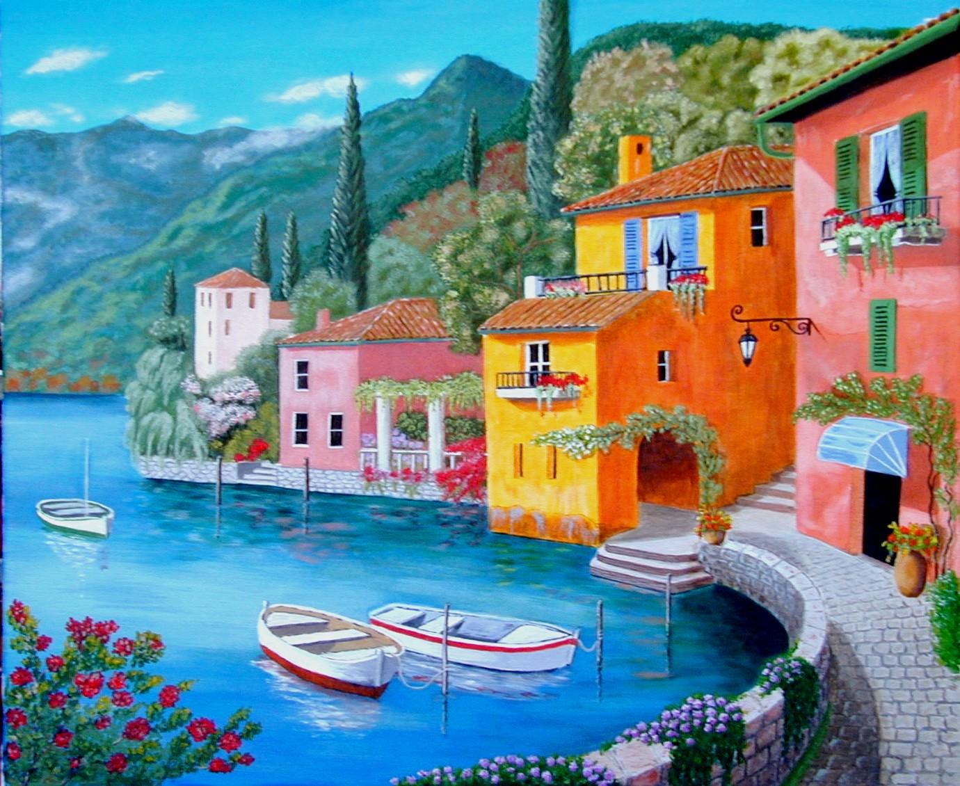 Les peintures acryliques de christian monniotte creations 2014 - Paysage peinture facile ...