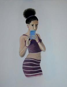 Portrait carla en acrylique