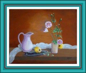nature-morte-fleurs-pommes-raisin-pichet-300x241