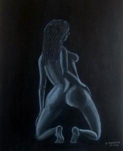 Jeu de lumière sur nu