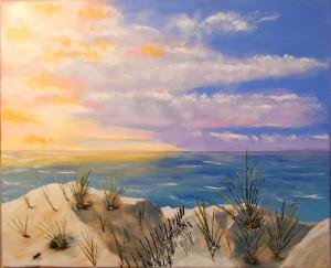 Crépuscule sur le dunes